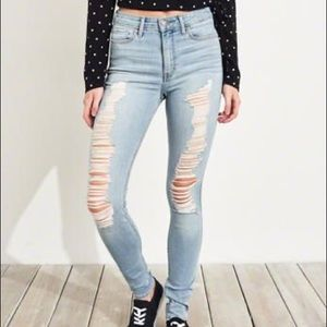 Hollister High Waisted Super Skinny Jeans Jeggings